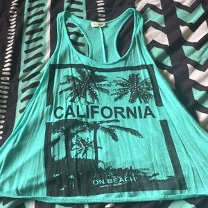 """California"" blue tank!"
